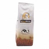 La dame blanche café exquis 100% arabica doux et parfumé en grains 250g