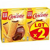 Lu cracotte fourrée chocolat  x2 400g