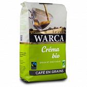 Warca café en grains crema bio max havelaar paquet 500g