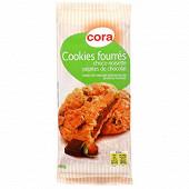 Cora cookies fourrés choco-noisette pépites de chocolat 160g