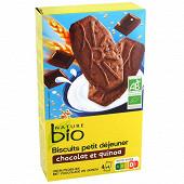 Nature bio biscuits petit déjeuner chocolat et quinoa bio 200g