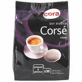 Cora dosettes souples x36 pur arabica corsé 250g