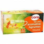 Cora thé vert aromatisé agrumes 25 sachets 45g