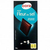 Cora chocolat noir fleur de sel 100g