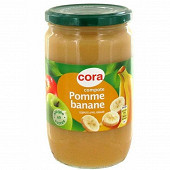 Cora compote pomme banane allégée en sucres 710gr