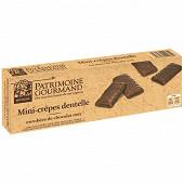 Patrimoine gourmand mini-crêpes dentelle enrobées de chocolat noir 100g