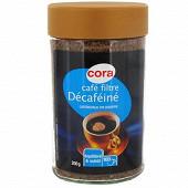 Cora café filtre lyophilisé décaféiné 200g