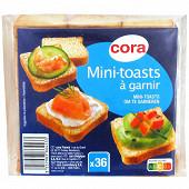 Cora mini toast 36 tranches 80g