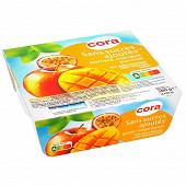 Cora spécialité de fruits pomme mangue passion sans sucres ajoutés 4 x 95g