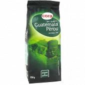 Cora café moulu pur arabica guatemala pérou 250g