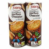 Cora kido goûters fourrés rond parfum chocolat  2 x 330g
