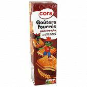 Cora kido goûters carrés fourrés chocolat 300g