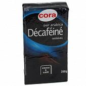 Cora café moulu pur arabica décaféiné 250g