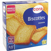 Cora biscottes nature 36 tranches 300g