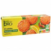 Nature bio 12 sablés aux amandes et à l'arôme naturel de citron bio 200g