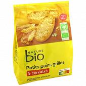 Nature bio petits pains grillés aux 5 céréales 225g