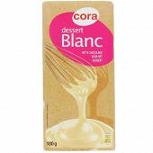 Cora chocolat blanc déssert 180g