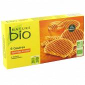 Nature bio gaufre fourrées au miel 175g