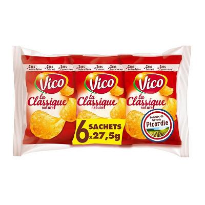 Vico Vico chips classique nature 6 x 27,5g soit 165g