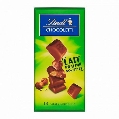 Lindt chocoletti lait praliné noisettes 100g