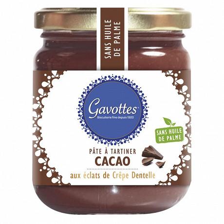 Gavottes pâte à tartiner cacao aux éclats de crêpe dentelle 350 g