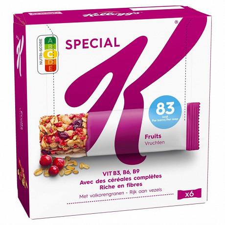 Kellogg's spécial k barres cérélales, fruits rouges x6 129g