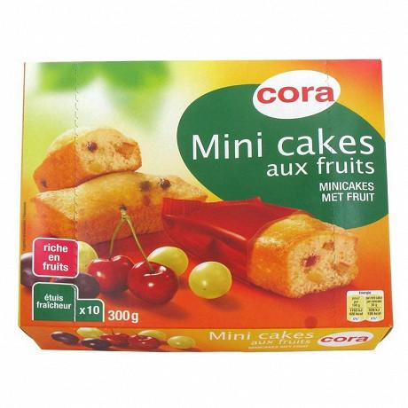 Cora 10 mini cakes aux fruits riches en fruits 300g