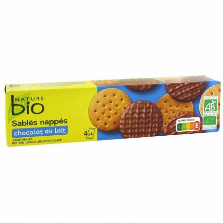 Nature bio sablés céréales chocolat au lait 200g