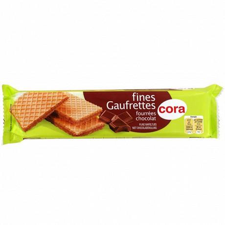 Cora fines gaufrettes fourées chocolat 100g