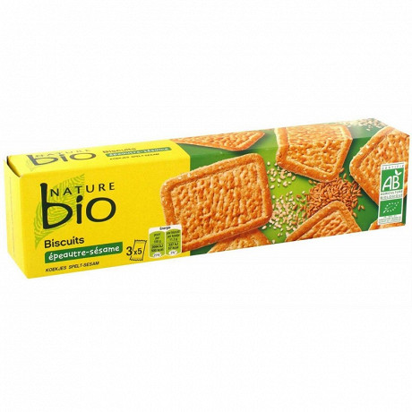 Nature Bio biscuits épeautre sésame 170g