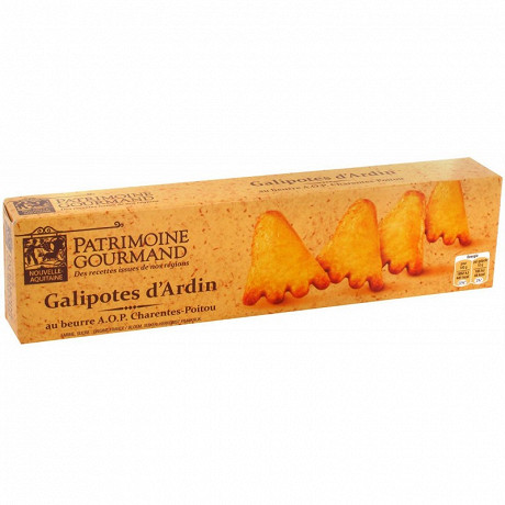 Patrimoine gourmand galipotes d'ardin au beurre AOP 120g
