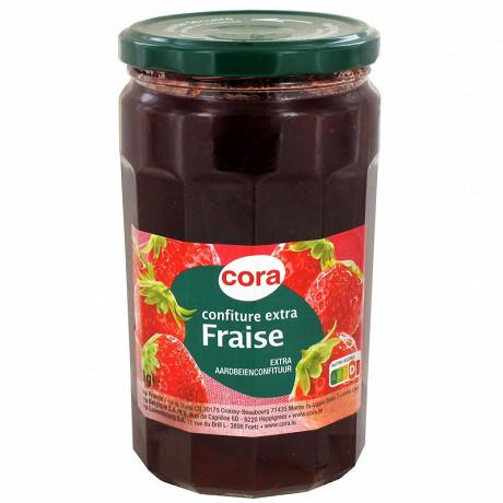 Cora confiture extra fraise 750g