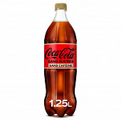 Coca-Cola zéro sans caféine pet 1.25l contour
