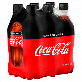 Coca-Cola zéro pet 6x50cl
