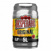 Desperados original bière aromatisée téquila fût 5L 5.9%vol