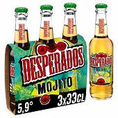 Desperados mojito bière aromatisée téquila, menthe, citron 3x33cl 5.9%vol