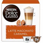 Nescafé capsules type dolce gusto latte macchiato caramel x16 145.60g
