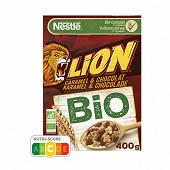 Lion céréales bio caramel et chocolat 400g