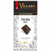 Villars chocolat noir 85% de cacao 100g