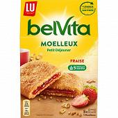 Lu belvita moelleux coeur gourmand fraise 250g