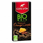 Côte d'or bio noir orange 90g