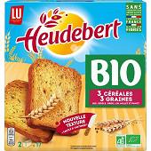 Heudebert les biscottes bio 3 céréales et graines 300g