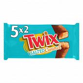Twix salted barre chocolat caramel salé 5x2 460g