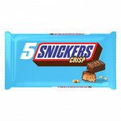 Snickers Crisp barre chocolat caramel x5 200g