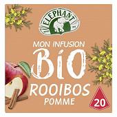 Eléphant thé bio rooibos pomme cannelle x20 40g