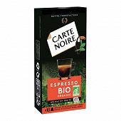 Carte Noire capsules espresso bio type nespresso x10 53g