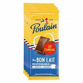 Poulain tablette lait 4x95g