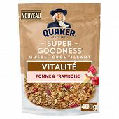 Quaker super goodness pomme framboise 400g