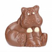 Les chevaliers d'argouges hippopotame chocolat au lait décoré chocolat blanc 70g