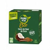 Pure via bio sucre de fleur de coco sticks x30 81g